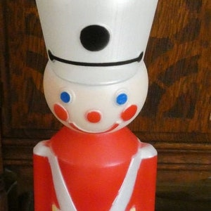 """42"""" Lighted Christmas Toy Soldier Blow Mold Display Figure New Choice Of Color"""