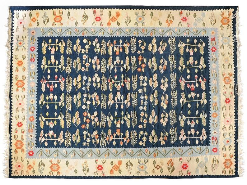 Vintage Floral Kilim Large Size For A Livingroom Handwoven Etsy