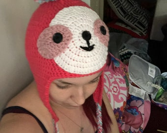 100/% Acrylic Cotton Beanies Cap Unisex I Just Freaking Love Sloths Ok Knitting Hat