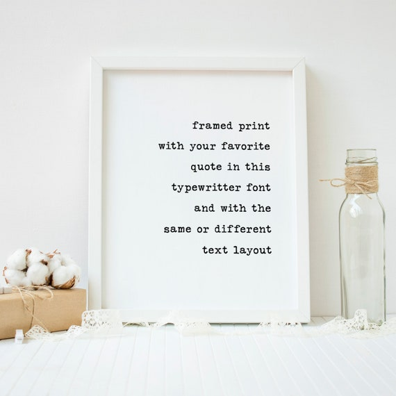 Custom Framed Quote Print Framed Quotes Framed Song Lyrics Etsy