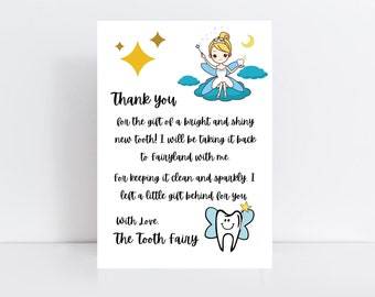 Tooth fairy letter, tooth fairy letter instant download, tooth fairy letter first tooth, tooth fairy printable