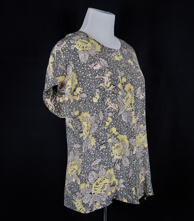 Vintage button down Summer Blouse Mondi 80s short sleeves
