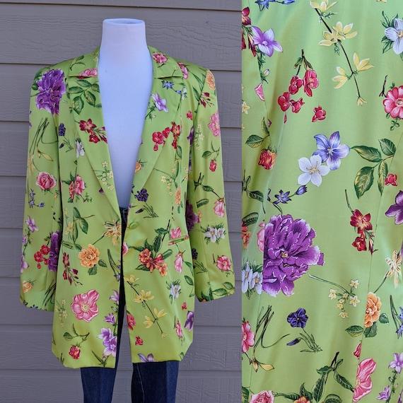 90s Corduroy purple cropped jacket Floral rainbow crop top Party colorful bolero Size Medium
