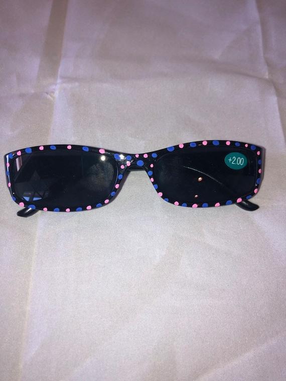 Limited Edition Hand Painted Reading Sunglasses acrylic style fashion eyewear 1.50