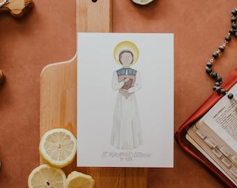 Saint Margaret Clitherow of York   Saint Print   Saint Card   Catholic Gift