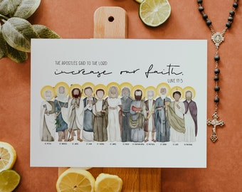The Apostles   Saint Print   Saint Card   Catholic Gift   Teacher Gift