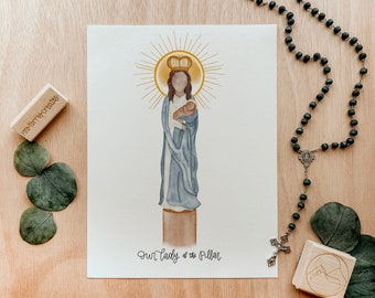 Our Lady of the Pillar   Saint Card   Saint Print   Catholic Gift