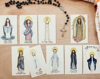 Our Lady   BUNDLE   Saint Prints   Saint Cards   Catholic Gift