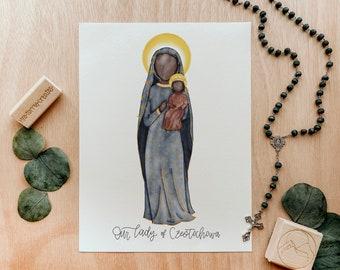 Our Lady of Czestochowa   Saint Card   Saint Print   Catholic Gift
