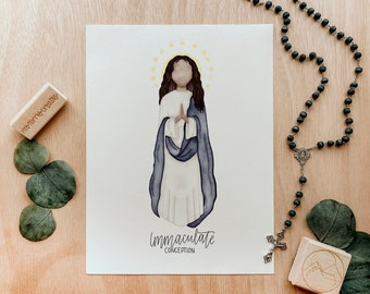 Immaculate Conception   Saint Card   Saint Print   Catholic Gift