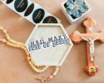 Full Of Grace Sticker // Catholic Sticker // Adoration Sticker