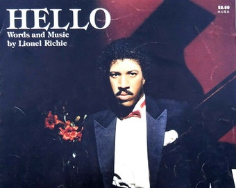 927b285ca Hello Song by Lionel Richie Vintage Sheet Music 1983