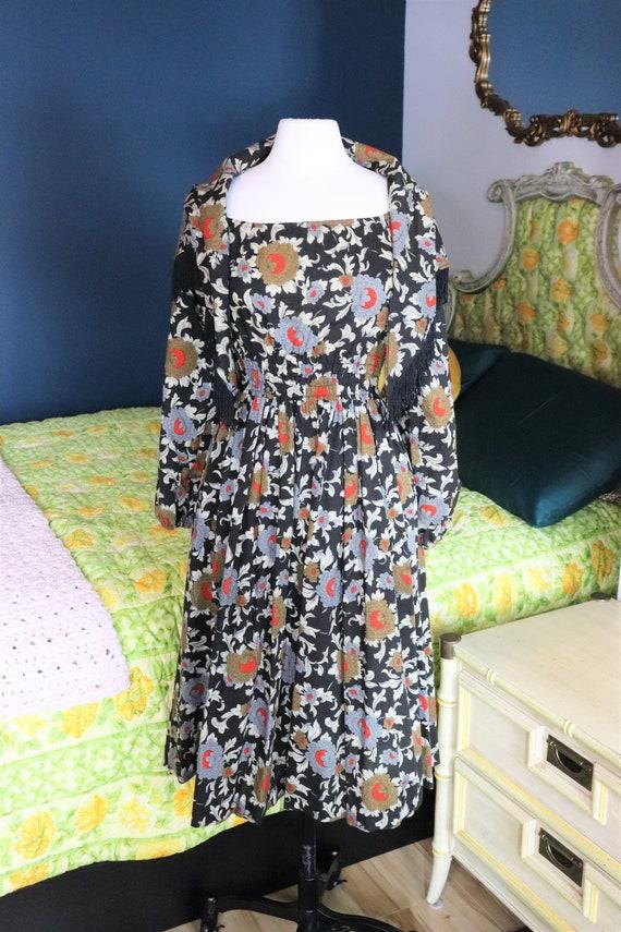 1970s Prairie, CottageCore, Cotton Floral dress |… - image 1