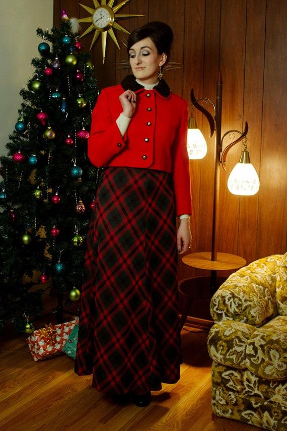 1970s plaid maxi skirt | Small - image 8