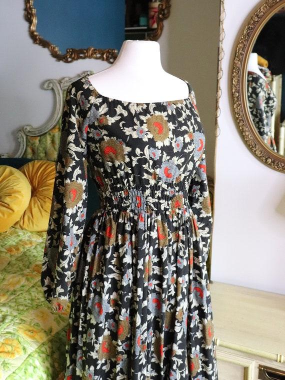 1970s Prairie, CottageCore, Cotton Floral dress |… - image 4
