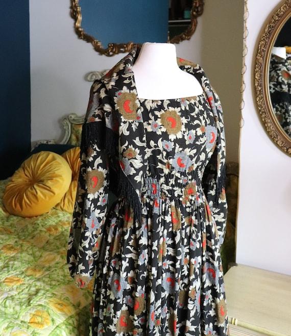 1970s Prairie, CottageCore, Cotton Floral dress |… - image 3