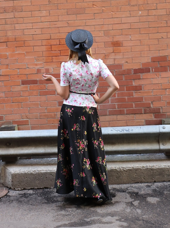 70s Floral Blouse, white & pink blouse, button up… - image 4