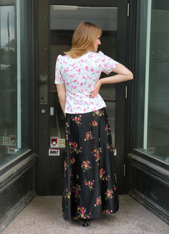 70s Floral Blouse, white & pink blouse, button up… - image 5
