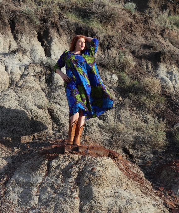 1970s Sangria Dress | Medium