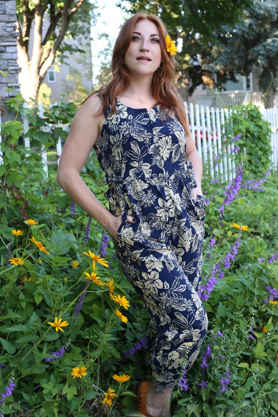 Hawaiian  Jumpsuit by Tori Richards | Medium