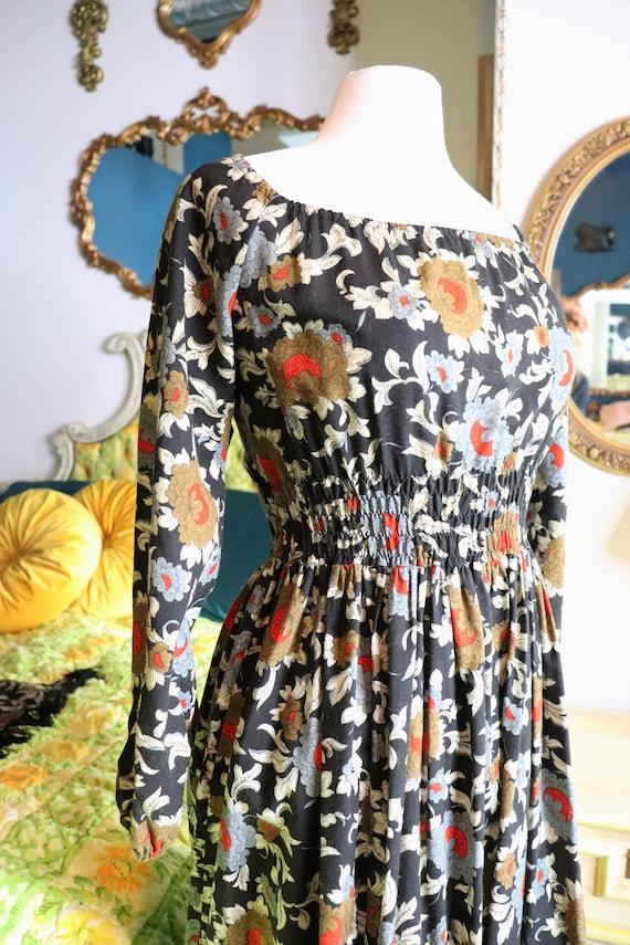 1970s Prairie, CottageCore, Cotton Floral dress |… - image 10
