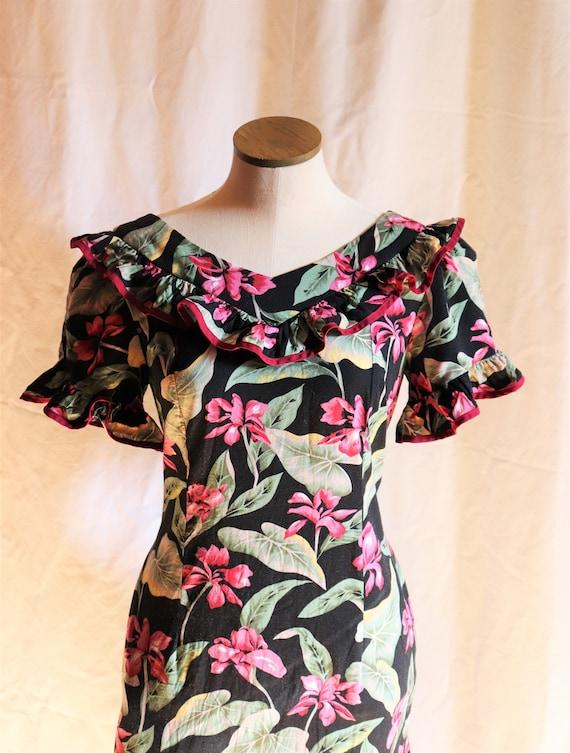 Tori Richards Hawaiian Dress   M-L
