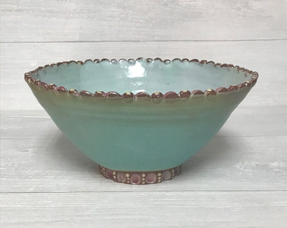Side dish bowl/Serving bowl/Handmade bowl/Ceramic bowl/Hostess gift bowl