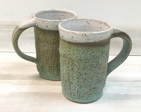 Mug/Coffee mug/Mug for tea/Soup mug/Handmade mug/Hot chocolate mug/Mug with handle/Textured mug