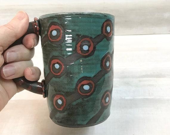 Mug/Coffee mug/Mug for tea/Soup mug/Handmade mug/Ceramic mug/Wheel-thrown mug/Pottery mug/Hot chocolate mug/Mug with handle