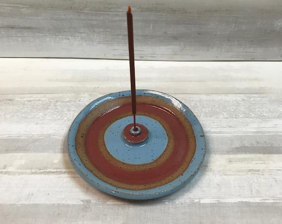 Ceramic Incense Burner/Incense holder/Incense dish/palo santo dish/colorful incense burner/Handmade incense burner