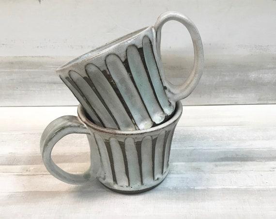 Coffee mugs/Ceramic mugs/Fluted coffee mugs/Hot chocolate mug