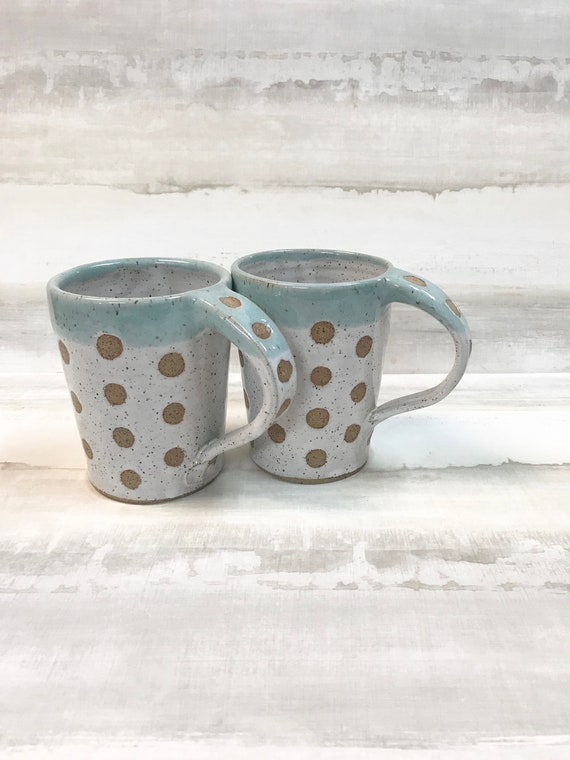 Mug/Coffee mug/Mug for tea/Soup mug/Handmade mug/Dotted mug/Ceramic mug/Wheel-thrown mug/Pottery mug/Hot chocolate mug/Mug with handle
