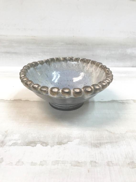 ice cream bowl/dipping bowl/sugar bowl/bowl for berries/condiment bowl//beaded bowl/salt bowl