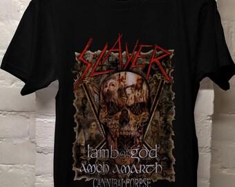 6ad0fa96e Slayer Band T Shirt, Slayer Shirt, Slayer Tee, Slayer Clothing 2019 US Tour  Skull All Size S-2XL