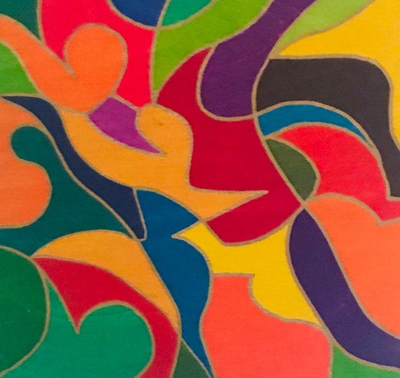 Original Painting, Fractal Art,  Abstract Art, Wall Art, Whimsical, Modern Art, Home Decor,  Colorful Art, Mid-Century Modern Painting