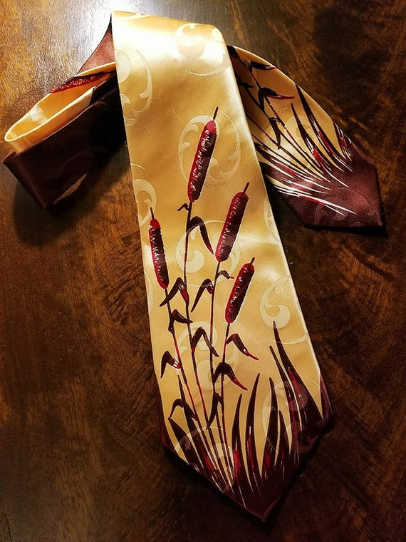 SWINGIN' Cat Tails tie, late 40s