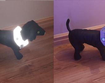 Hi VIZ, Hi VIS, Cat safety collar, be seen at night, road safety, Reg.Design :6084012