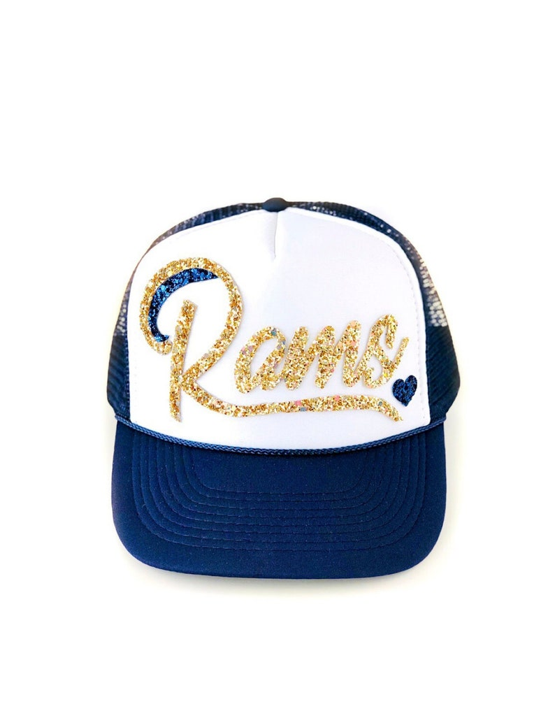 b5226c325caf2 Rams Trucker Hat Women s Rams hat football hat Rams