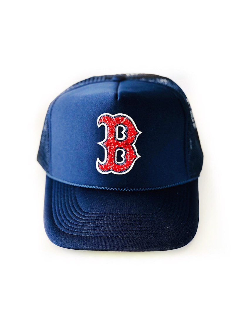 719199a20f Boston Red Sox Trucker Hat Women s Red Sox hat baseball