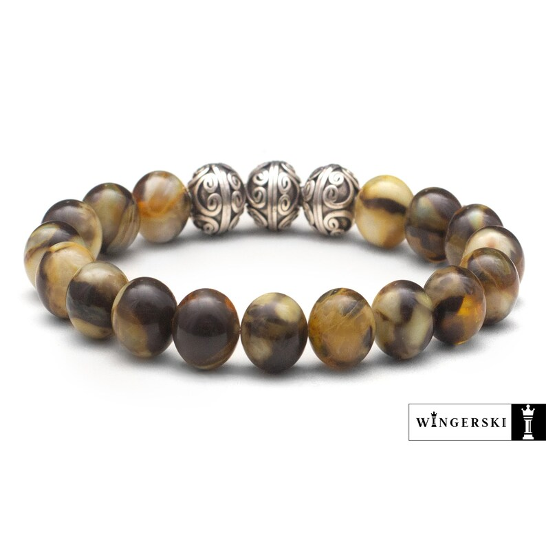 Baltic amber  womens bracelet Handmade Unique GIFT for her\u2022Womens Yellow Red Black Stone Bracelet\u2022Natural Amber Stone Bead Bracelet