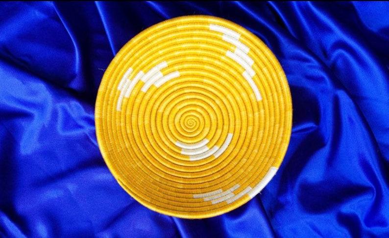 Boho Decor Wall hanging basket Sisal Fiber Basket 12/' Rwanda Basket African Wall Basket