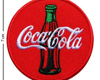 NEW 3 INCH WHITE COCA COLA IRON ON PATCH FREE SHIPPING