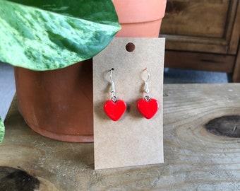 KC Royals Conversation Heart Clay Earrings Blue KC Love Heart Earrings