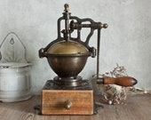 Amazing Huge Antique French PEUGEOT FRERES Bistrot Coffee Grinder