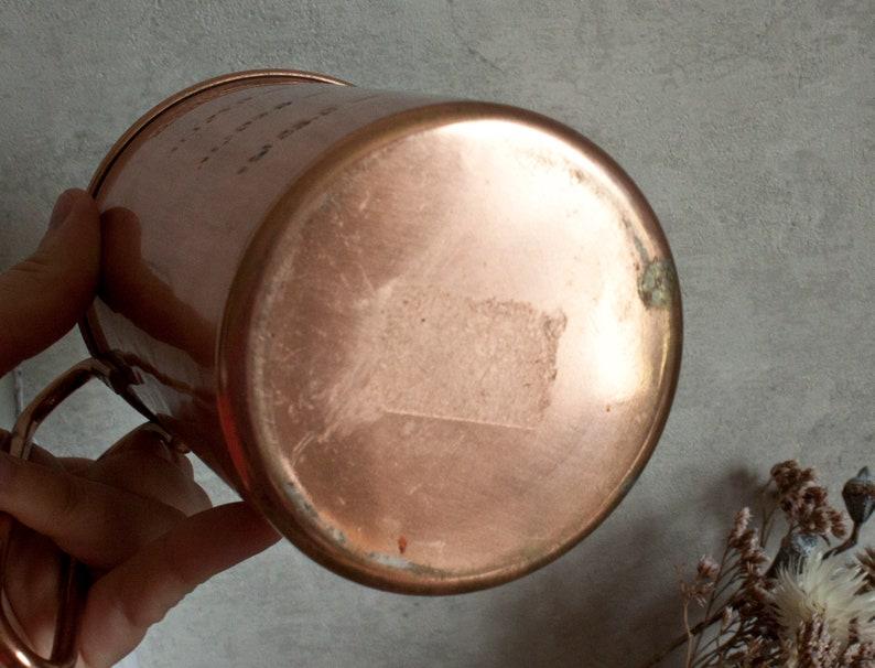 Vintage French Copper measuring Jug