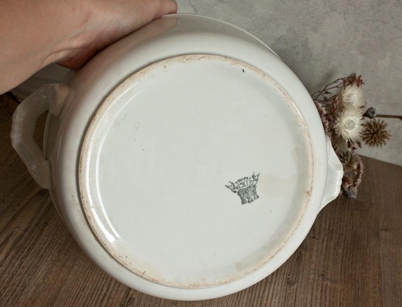 Charming GIEN Salad Bowl in White Ironstone