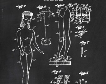 c06017686bba Barbie Doll Patent Print - Patent Art Print - Toy - Children s Decor - Girl  Art