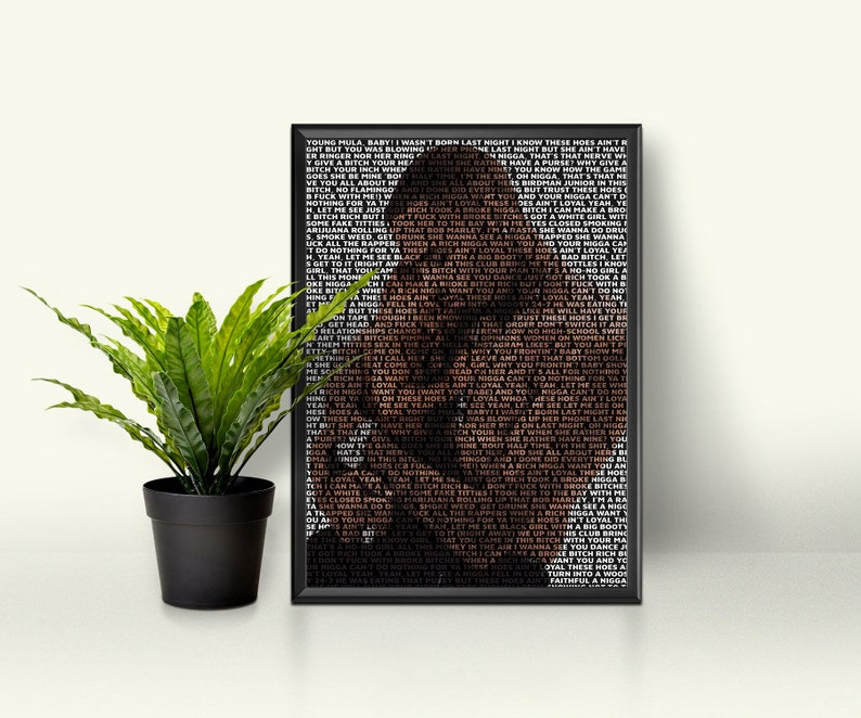 Chris Brown Custom Lyrics Poster,Chris Brown Print, Home Decor, Canvas Print