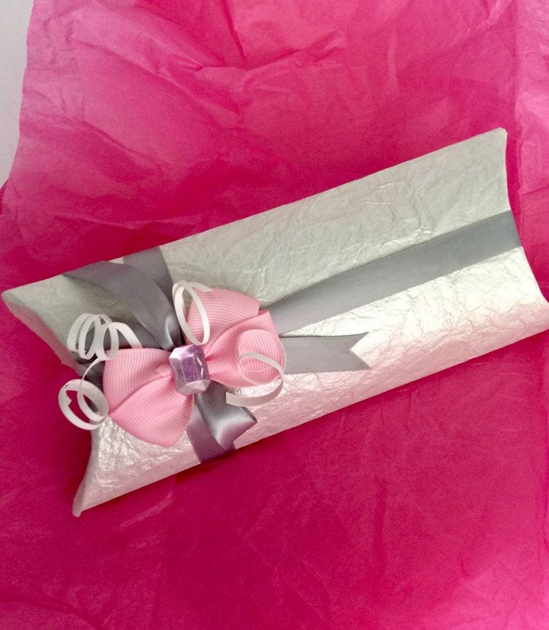 Set of 4 Party favor pillow box favor Custom made large pillow box