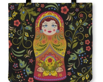 87149f01d4cee2 Russian Doll Tote Bag | Purse | Shoulder Bag | Russia & Travel Theme